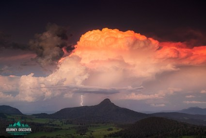 Epic storm cloud over mountain