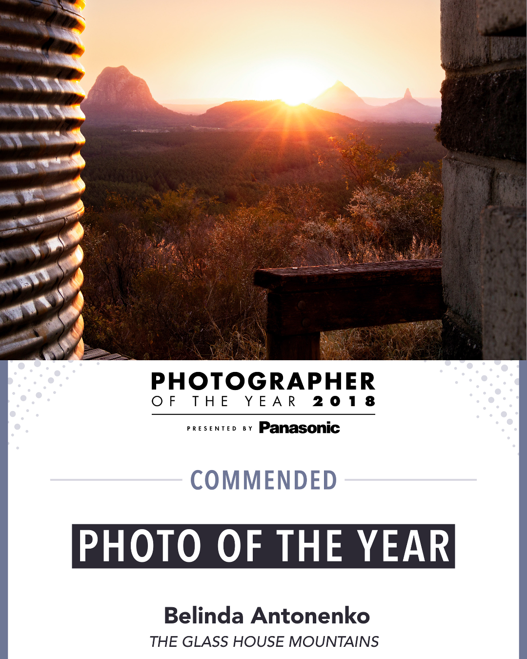 Photographer Of The Year Award - The Glass House Mountains