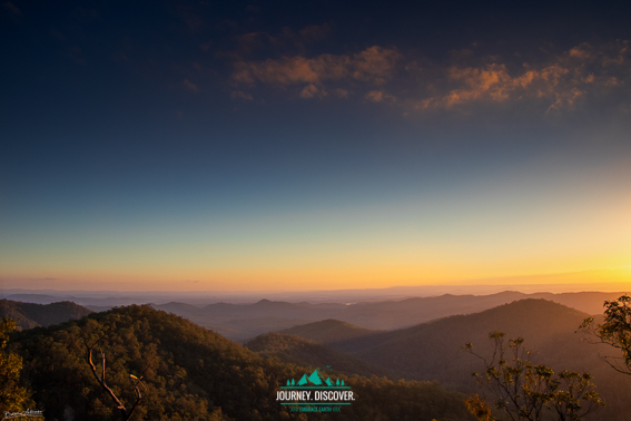 Sunset At Westridge Outlook, D'Aguilar National Park, Moreton Bay