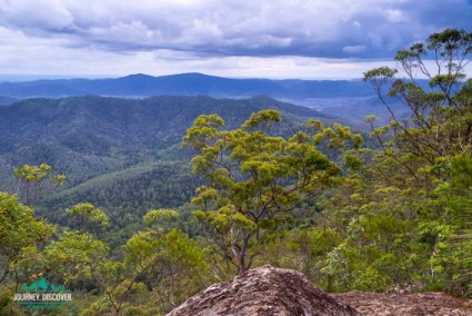 North-westerly views to Lake Somerset from Somerset Lookout, Mt Mee, D'Aguilar National Park, Queensland, Australia