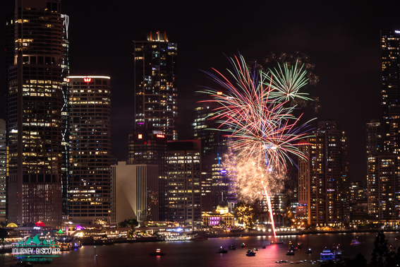 New Year Fireworks, Brisbane