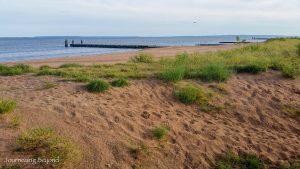 Morning run along Staten Island Beach
