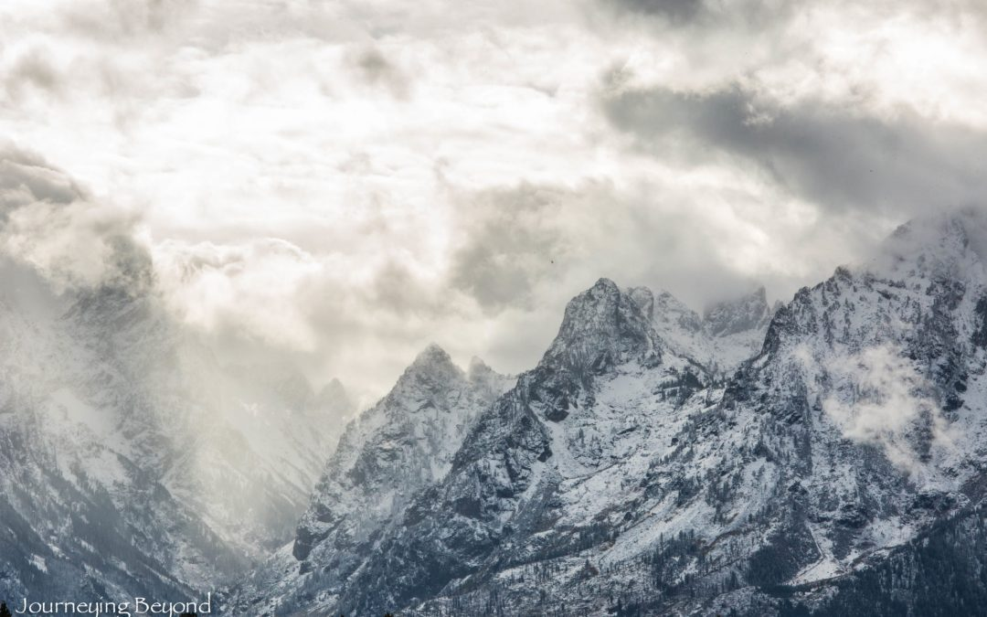 Snow-Chased Through the Tetons