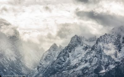 Snow-Chased Through the Tetons