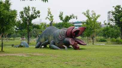 There is apparently a famous story of this monster who lives in the Han river. And eats people. Cheery stuff.