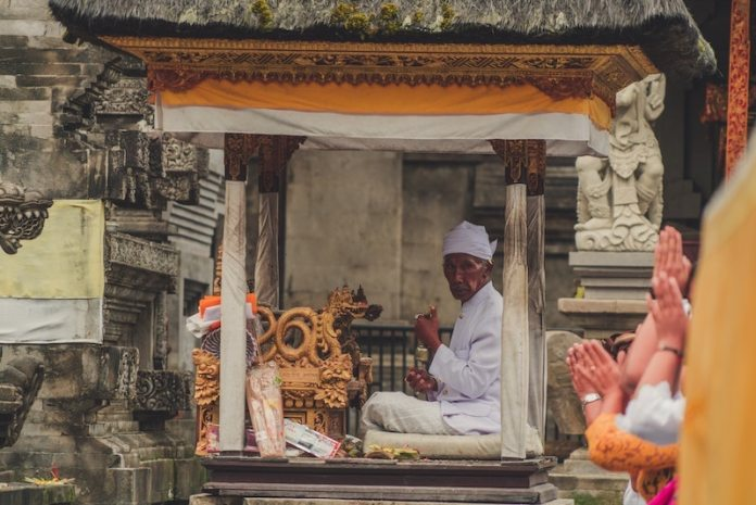A religious ceremony in Bali