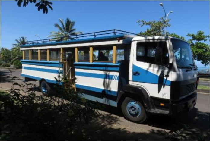 'Le Truck' public bus in Bora Bora