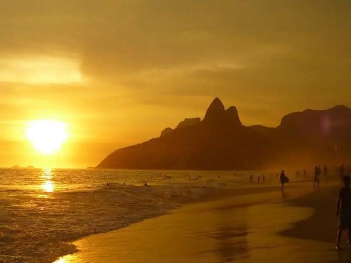 sunset over Guanabara Bay