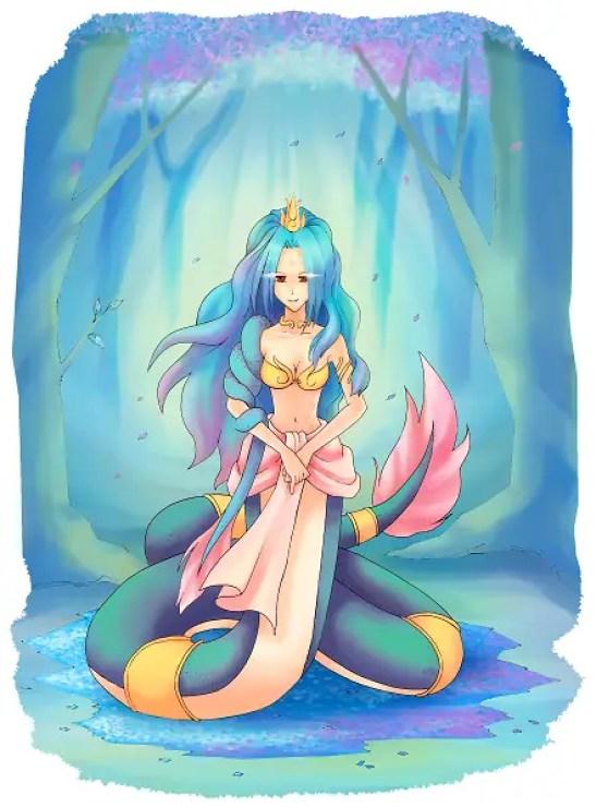 A nāgi, female of the nāga serpents | Picture Credit: Bluemallo/Deviant Art