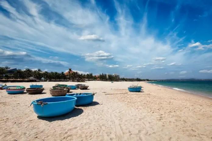 Fishing Boats on Mui Ne Beach, Vietnam