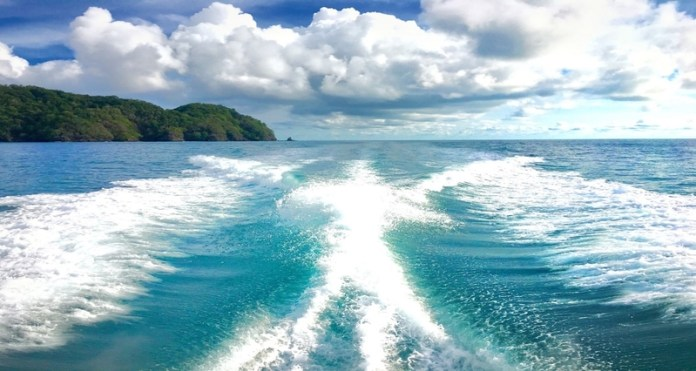 View from the back of a boat, Costa Rica