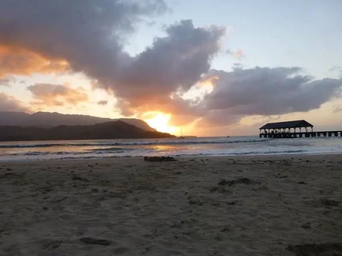 kauai black sand beach