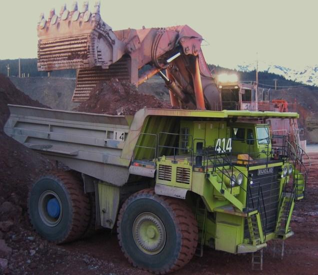Loading the ore