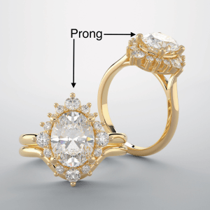 Prong repair on diamond ring