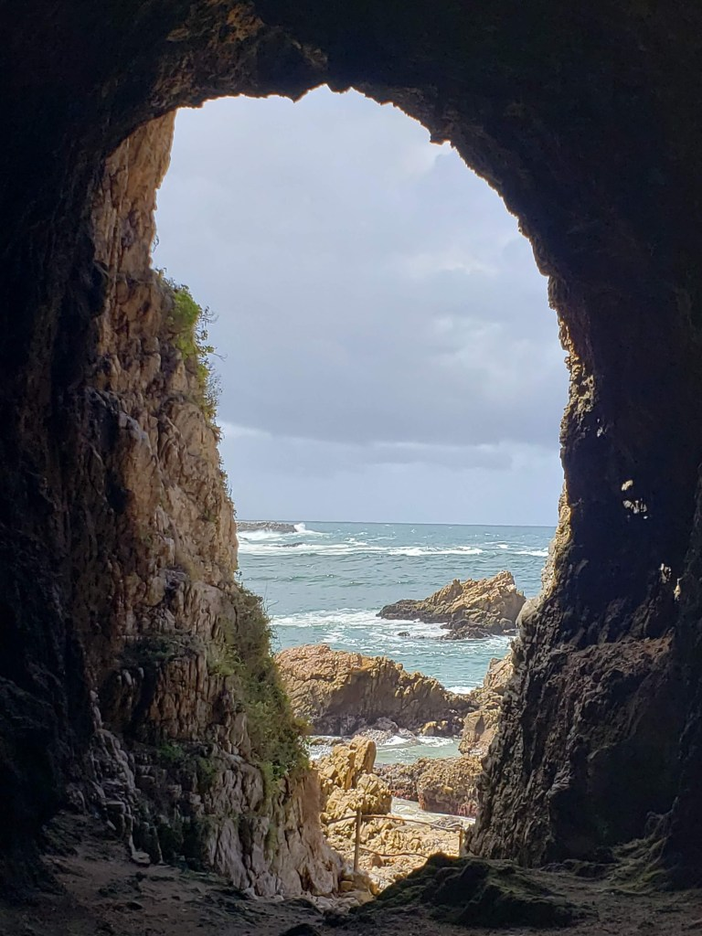 caves cut in rocks by sea water