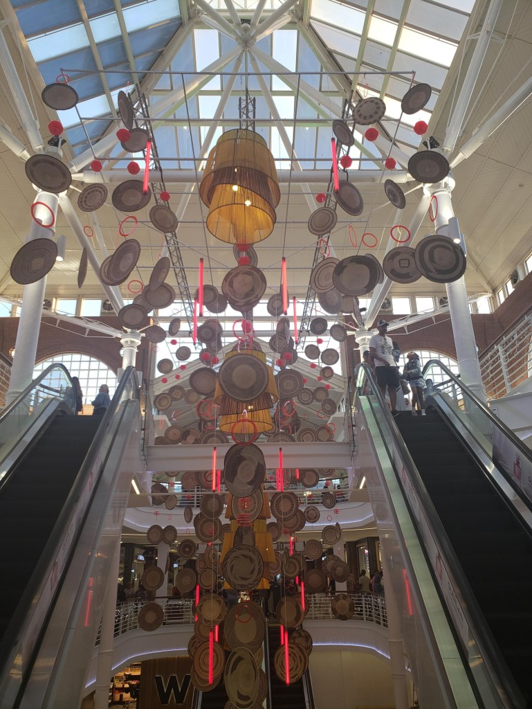 christmas decorations at V and A waterfront mall