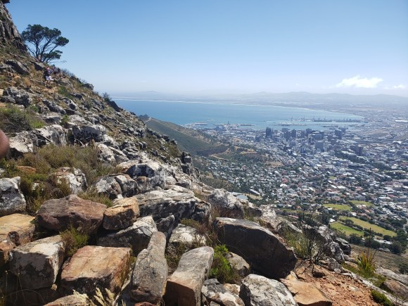 A closer view of the Lion's Head trail and views
