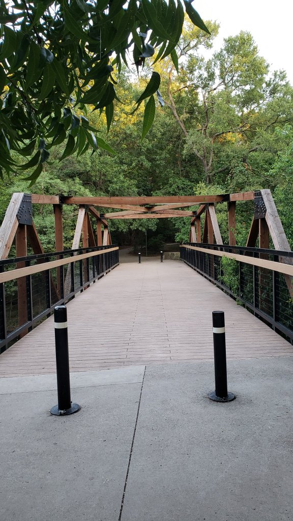 pedestrian bridge at prairie creek park