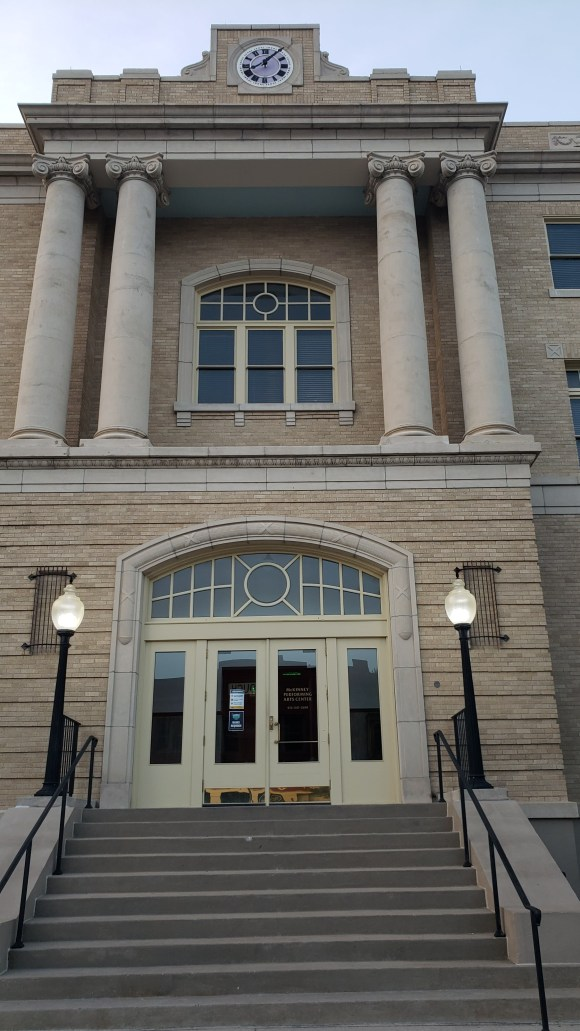 entrance leading up to the Old Collin County Courthouse