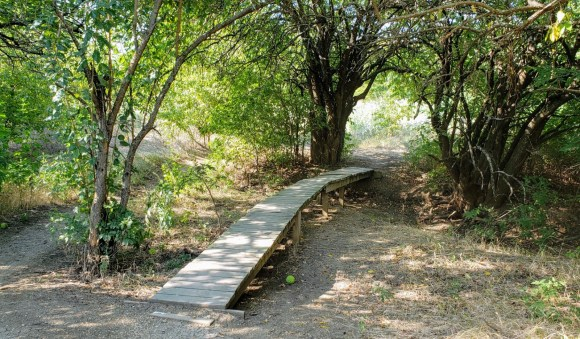 short bridges for hikers and bikers to cross
