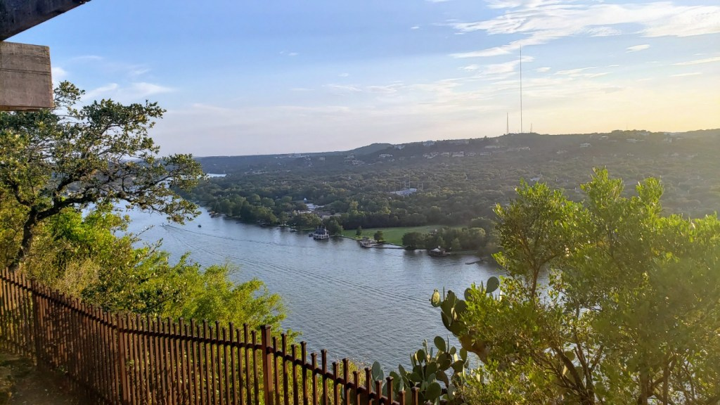 View from the arbor at Mount Bonnell