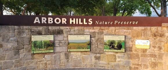 Entrance to Arbor Hills Nature Preserve