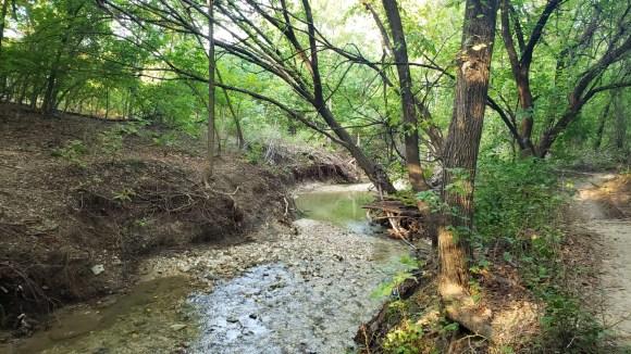 Creek path at Arbor Hills