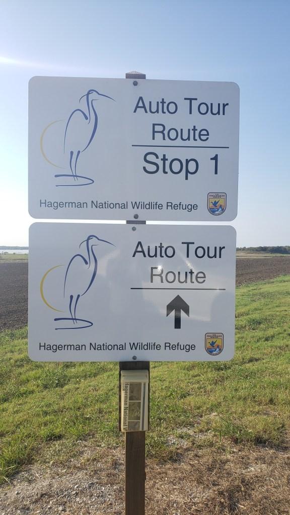 Audio tour signposts