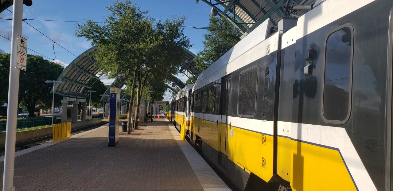 DART train station at Parker Road