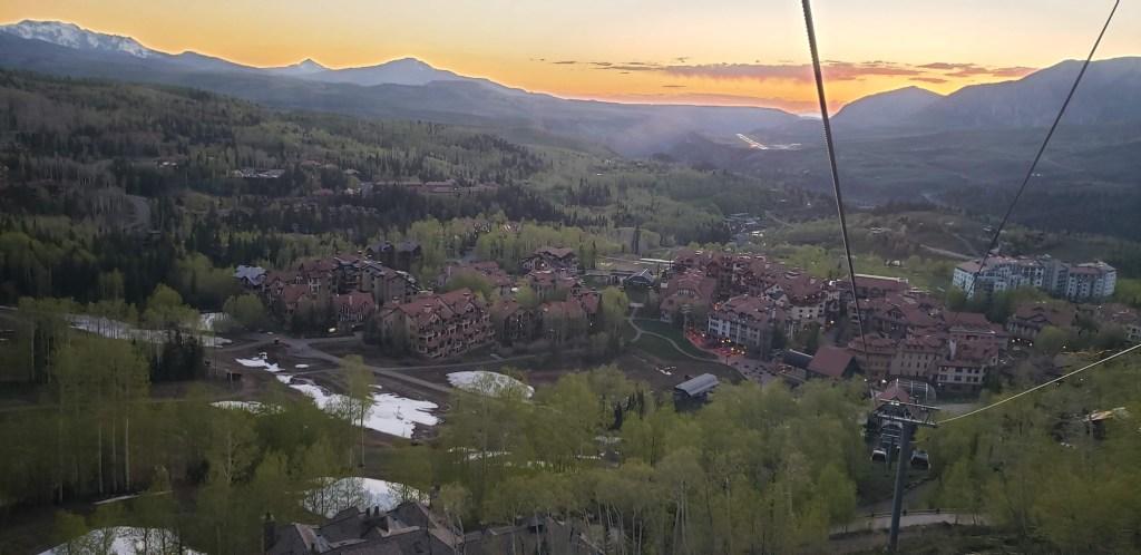 Mountain Village as seen from climb to San Sophia