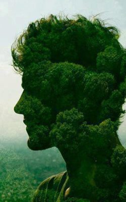 green nature man