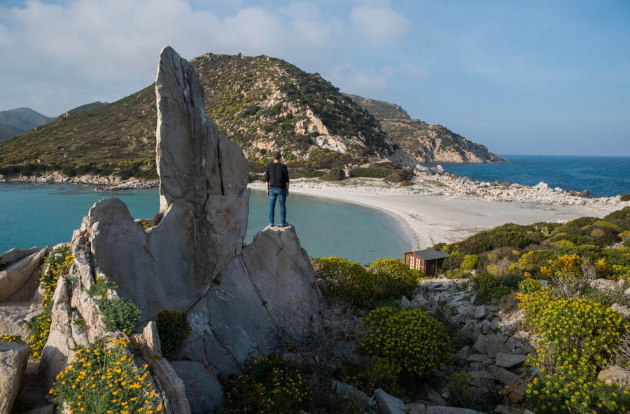 Punta Molentis; water channels, white sands and spectacular views. Sardinia