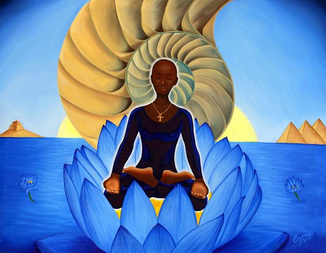 'Blue Lotus' by Cezanne 2010