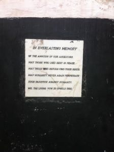 in memory of our ancestors plaque