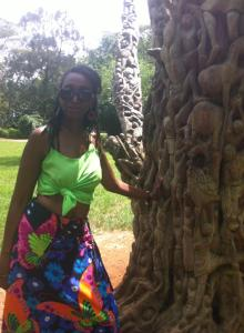 me and tree