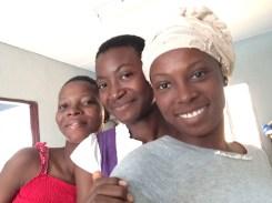 Naomi, Desire, and Benedite- my sisters