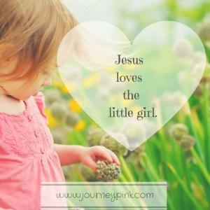 Jesus loves the little girl