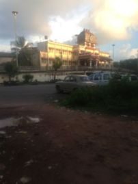 Udupi Railway Station, view from restaurant/convenience store across the road.