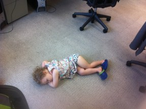 Sleeping at the office.