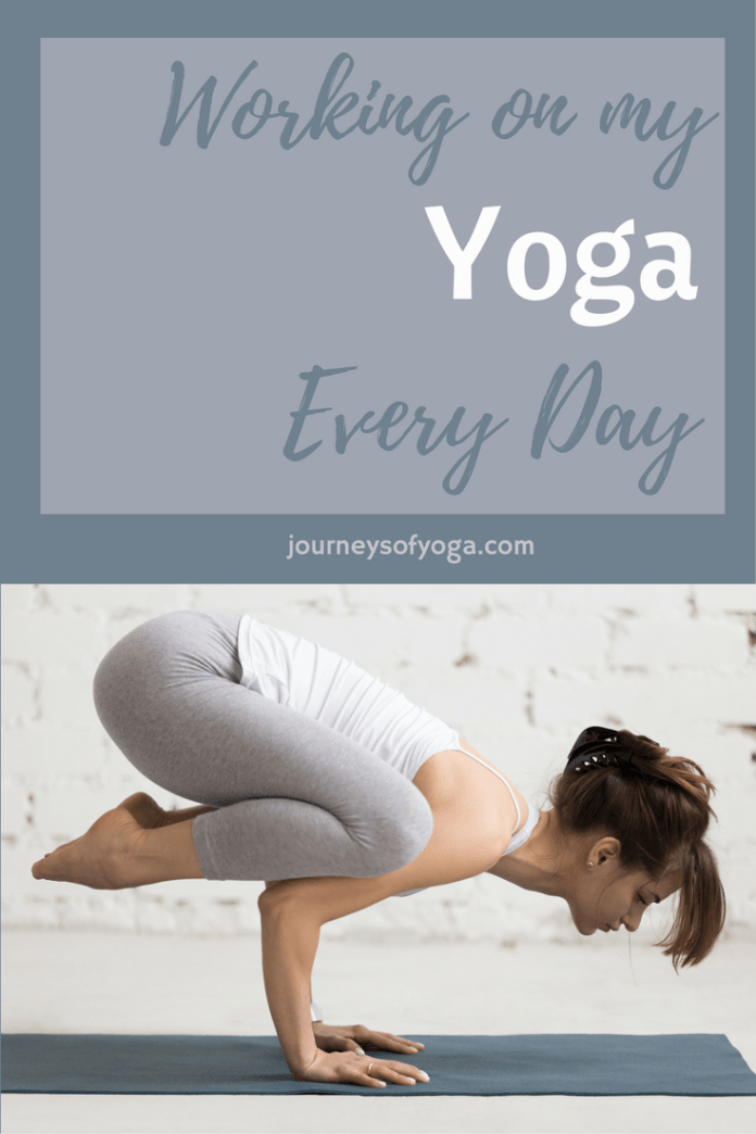 Read day by day what she does for her yoga practice.