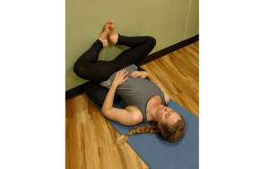 Supported laying bound angle pose inverted