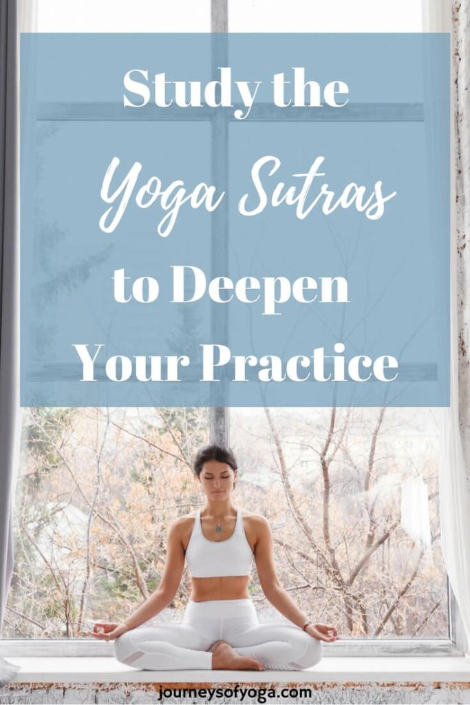 In my eyes, this is one of the most important sutras, which is why I would recommend... Yoga Sutra 2.33 from the Yoga Sutras of Patanjali states....