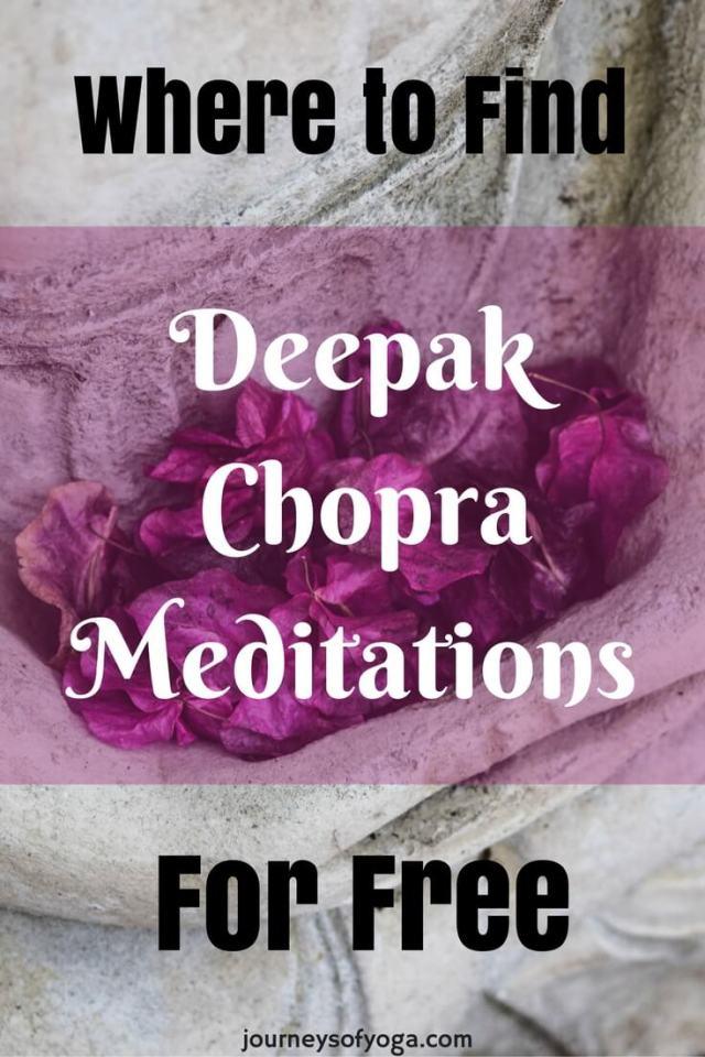 You can find Deepak Chopra Meditation for free!