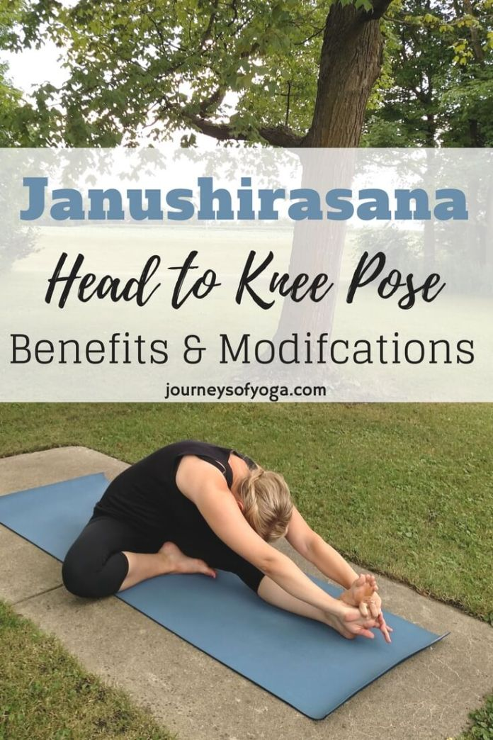 Janushirasana yoga pose has a ton of benefits. Also listed is modifications, how to, and contraindications.