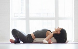 Laying Supported Bound Angle Pose