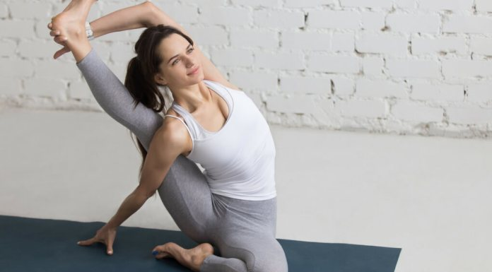 The Sundial yoga pose is often called Compass Pose. It's a pose that requires a ton of flexibility. There are also many modifications that you can do that make this pose more obtainable.
