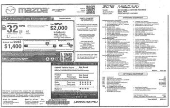 Mazda 6 I Grand Touring specs