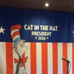 """Carnival says """"Vote The Cat in the Hat For President"""""""