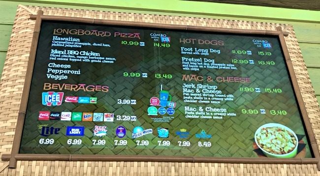 volcano bay food review