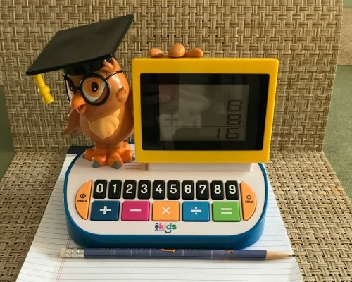 Wise Ol' Owl Blackboard Calculator Makes Math Fun For Little Ones